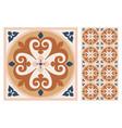 portuguese floor ceramic tiles azulejo design vector image