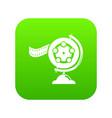 reel film icon green vector image vector image