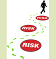 risk management business vector image vector image