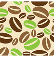 Seamless background with coffe beans vector image
