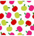 seamless pattern with abstract color apples vector image vector image