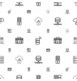 server icons pattern seamless white background vector image vector image