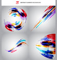 set of abstract technology geometric colorful vector image vector image