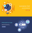 Set of Business Concepts for Web Banners vector image