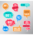 Set of colorful sale labels balloon speech bubbles vector image vector image