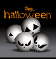 set of halloween skulls vector image