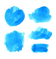 set of turquoise blue watercolor backgrounds vector image vector image