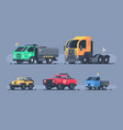 set of types cars vector image vector image