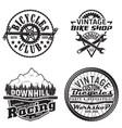 set vintage emblems vector image vector image
