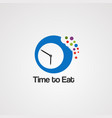 time to eat logo icon element and template vector image vector image
