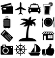 Travel and vacation signs set vector image