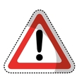triangle alert signal icon vector image