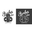 vintage barbershop monochrome logo vector image vector image