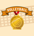 Volleyball design vector image vector image