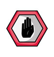 warning metal notices with stop sign vector image