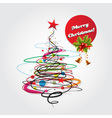 abstract christmas celebration card vector image