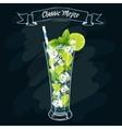 Alcoholic cocktail Mojito vector image