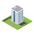 business isometric building vector image