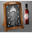 Menu template on chalkboard - for alcohol with vector image