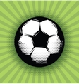 background with a soccer ball and green vector image