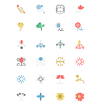 Flowers and Floral Colored Icons 4 vector image