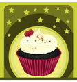 a cupcake and a wallpaper vector image vector image