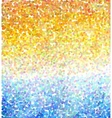 Abstract mosaic background Sea and sun vector image vector image