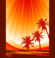 abstract palm trees on summer background vector image vector image