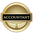 Accountant Gold Label vector image vector image