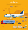 air cargo delivery and logistics vector image vector image