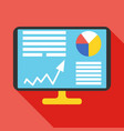 analysis icon business concept vector image vector image