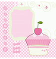 Background with cartoon Cake Mothers Day vector image