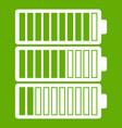 battery indicators icon green vector image