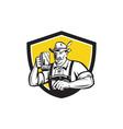 Bavarian Beer Drinker Oktoberfest Crest Retro vector image vector image