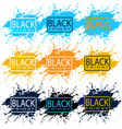 black friday promotional sale background vector image vector image