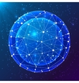 Blue abstract cosmic ball vector image vector image