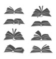 books black silhouettes vector image vector image