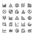 business charts and diagrams line icons 1 vector image