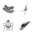 business sport tourism and other monochrome icon vector image vector image