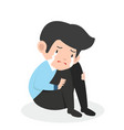 businessman crying sad business character vector image vector image