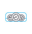 car dashboard thin line stroke icon car vector image