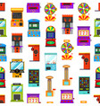 cartoon color game machine seamless pattern vector image