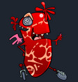 cartoon funny fantasy character red creature vector image
