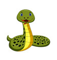 cartoon happy snake isolated on white background vector image vector image