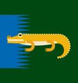 cartoon of crocodile vector image