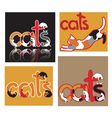 cats91 vector image vector image