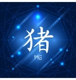 Chinese Zodiac Sign Pig vector image vector image