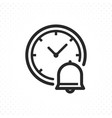 clock and bell icon vector image vector image