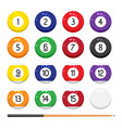 collection billiard pool or snooker balls vector image vector image