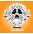 Dead Skull - helloween card vector image